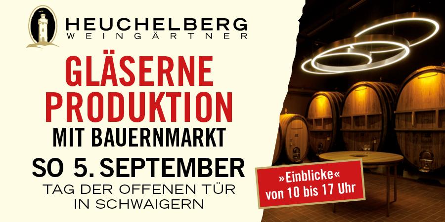 Gläserne Produktion - Tag der offenen Tür bei den Heuchelberg Weingärtnern - on hold