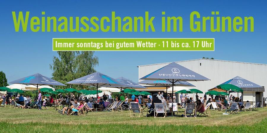 Weinausschank im Grünen Schwaigern - Sonntag 26.09.21- Heuchelberg Weingärtner und Metzgerei Geiger
